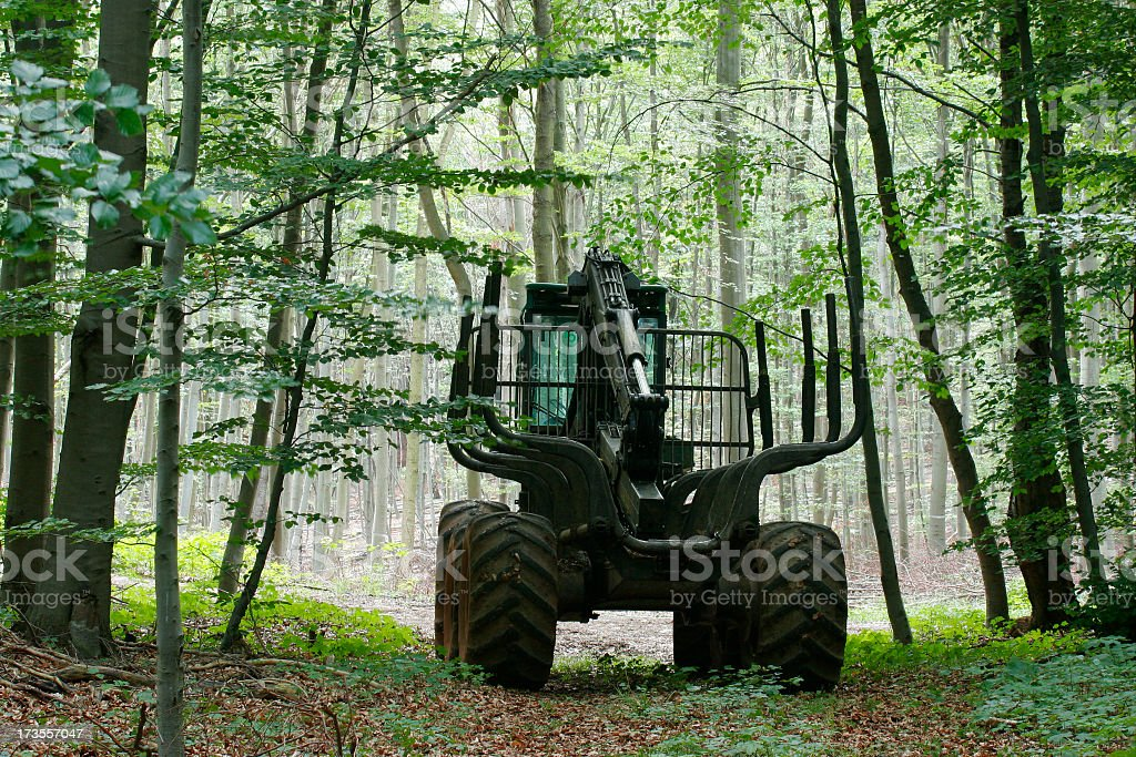 Forestry Machine royalty-free stock photo