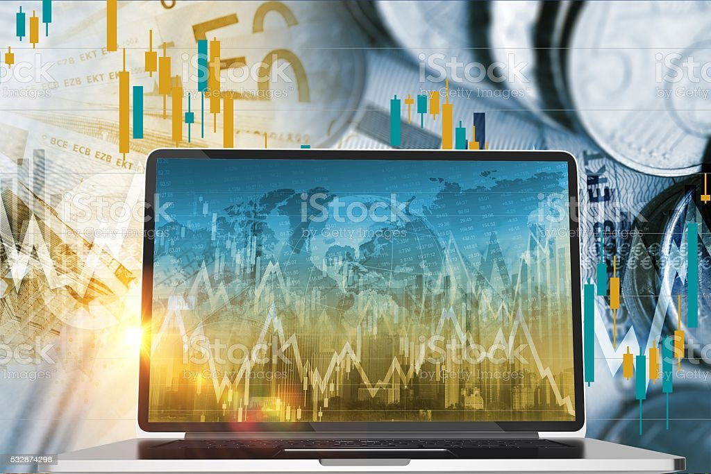 Forex and Stock Exchange stock photo
