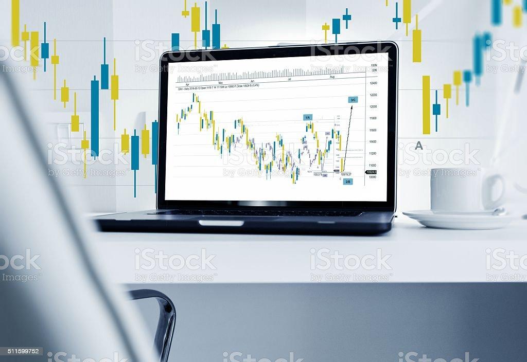 Forex Broker Workstation stock photo