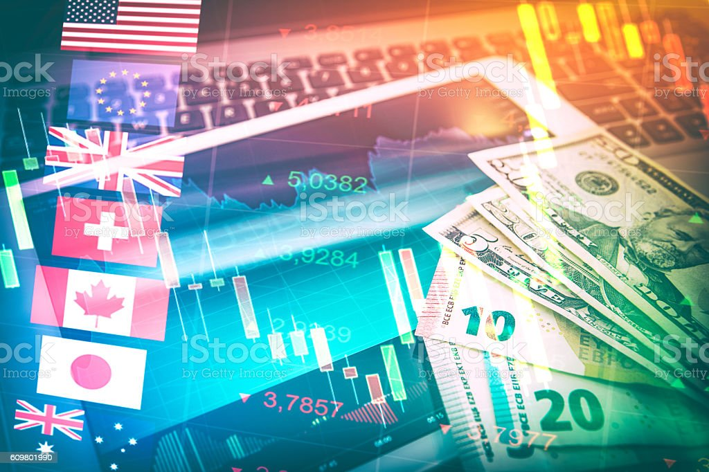 Forex Markets Currency Trading Concept. stock photo