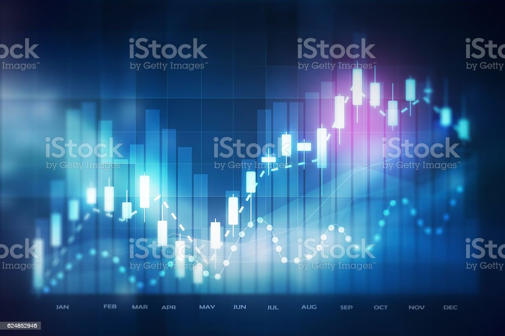 forex trading background vector art illustration