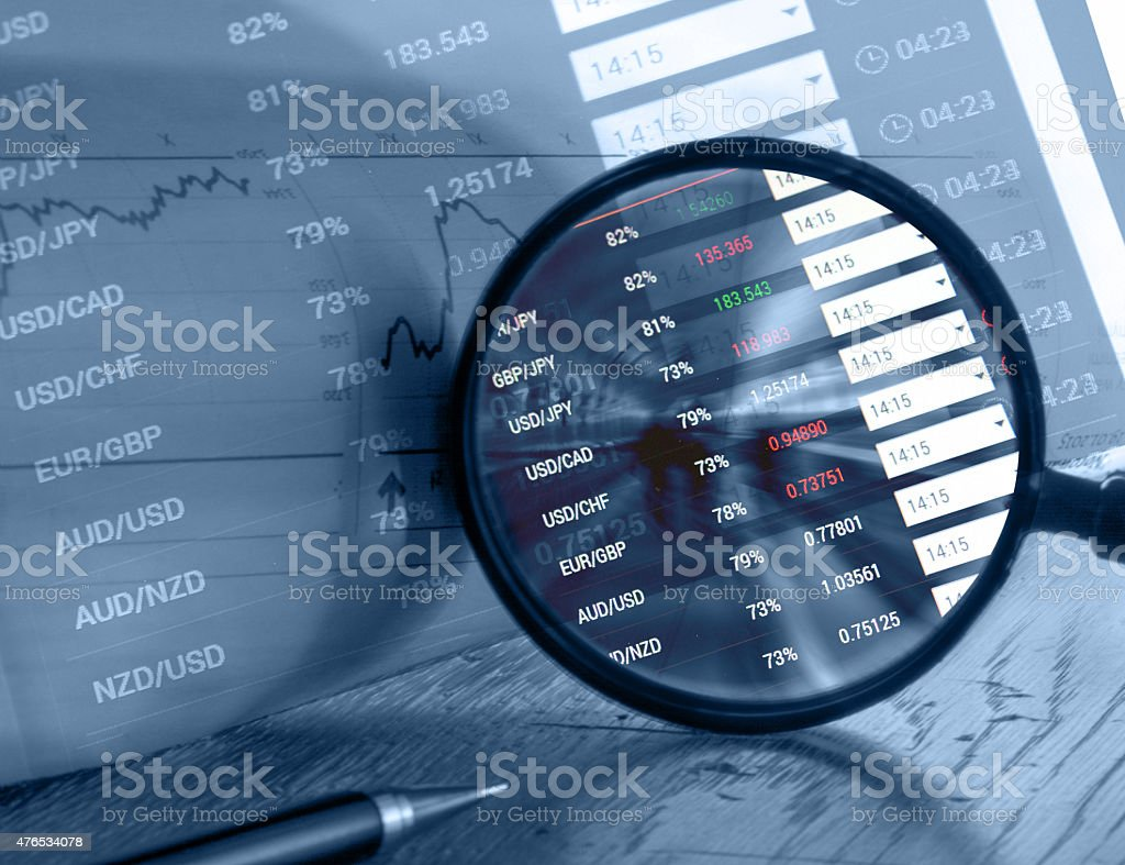 Forex trading concept stock photo