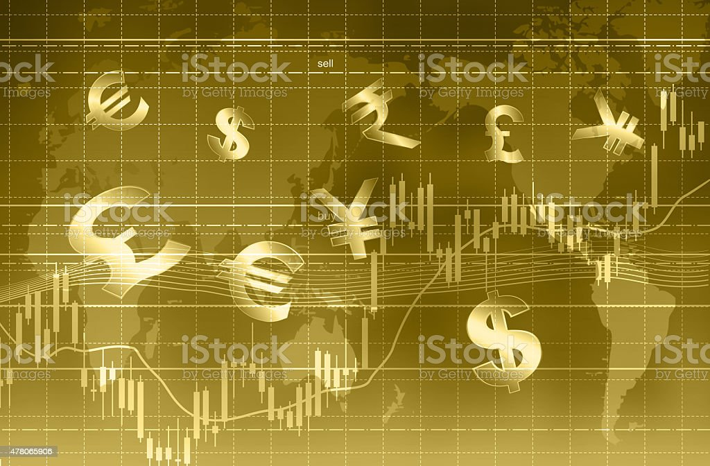 Forex trading concept. stock photo