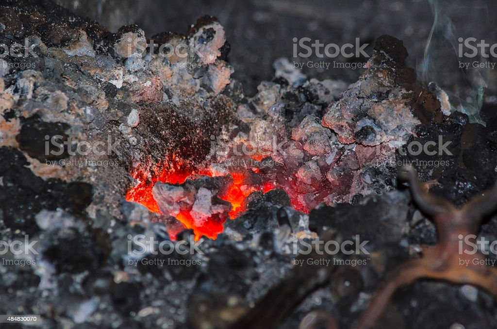 Forge fire stock photo