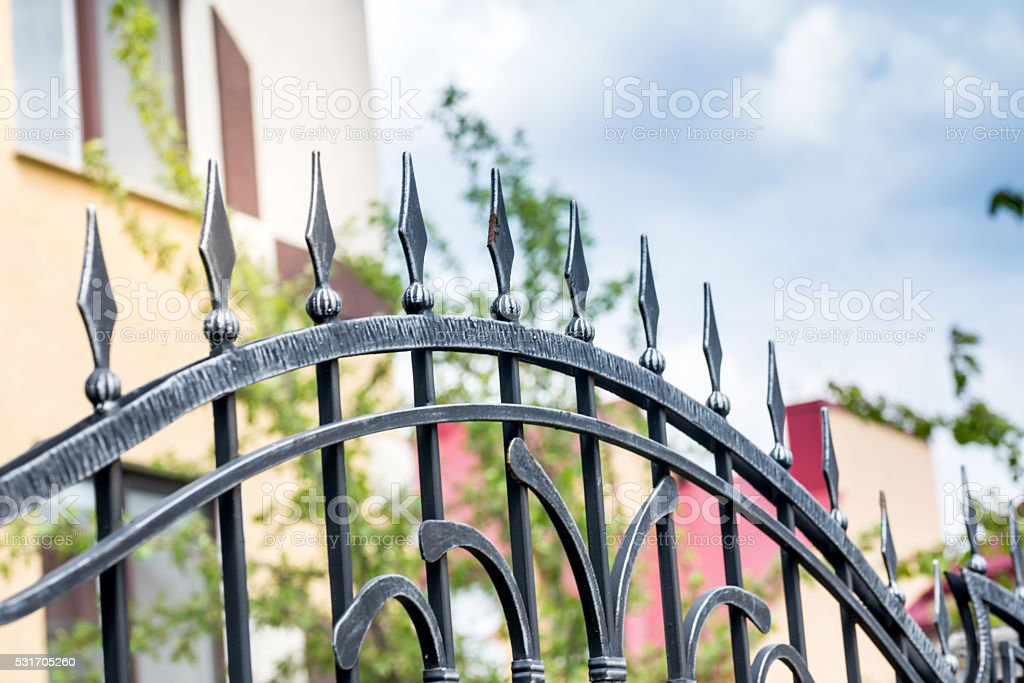 forged decorative element stock photo