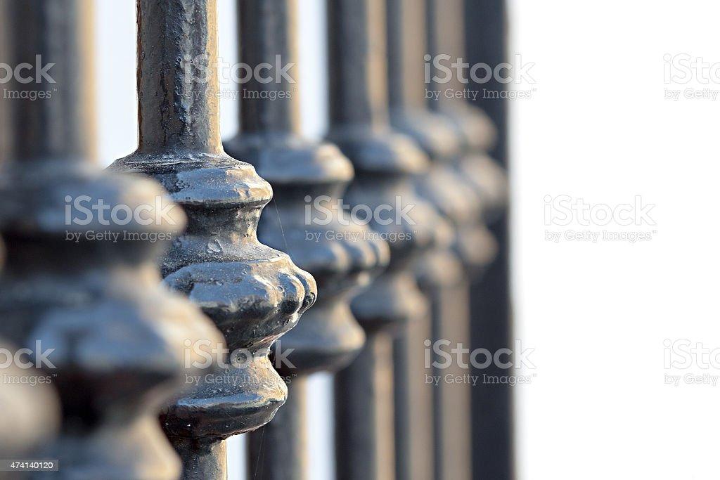 Testado portão detalhe em close-up foto royalty-free