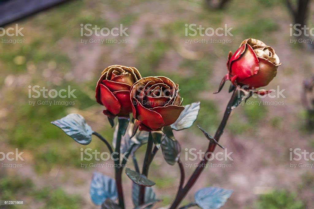 Forged rose stock photo