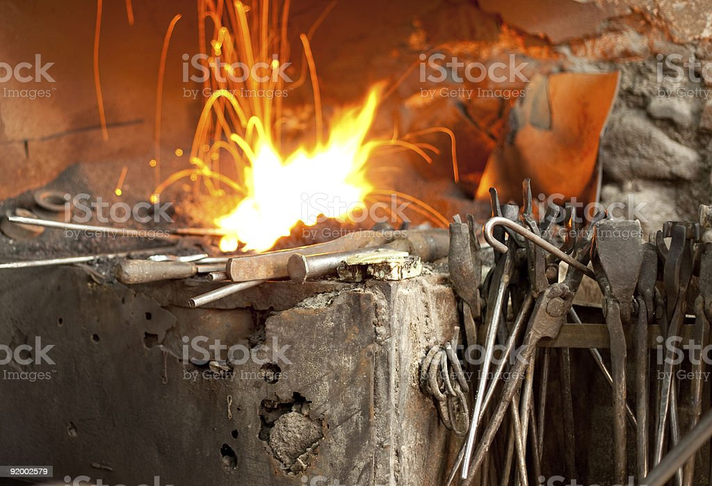 forger's shop royalty-free stock photo