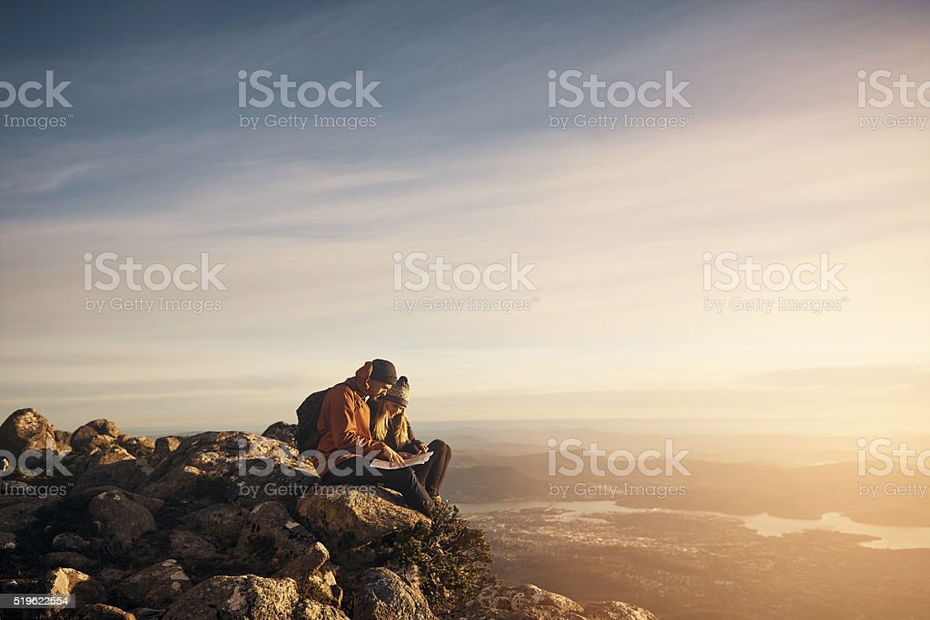 Forget the map, let's go our own way stock photo