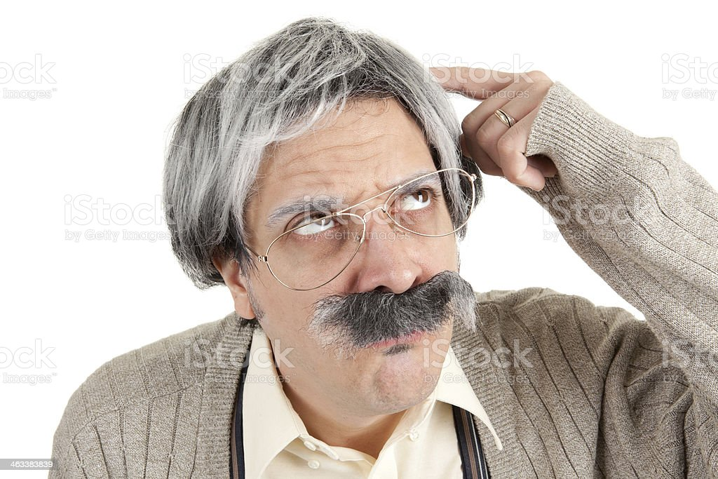 Forgetful Old Man royalty-free stock photo