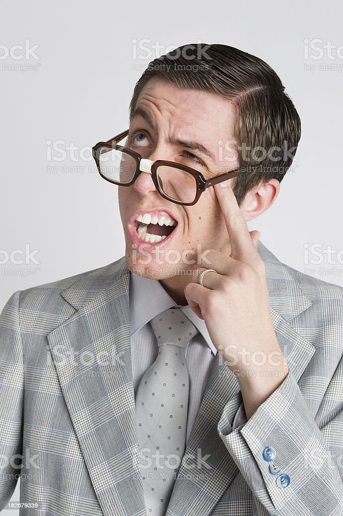 Forgetful royalty-free stock photo
