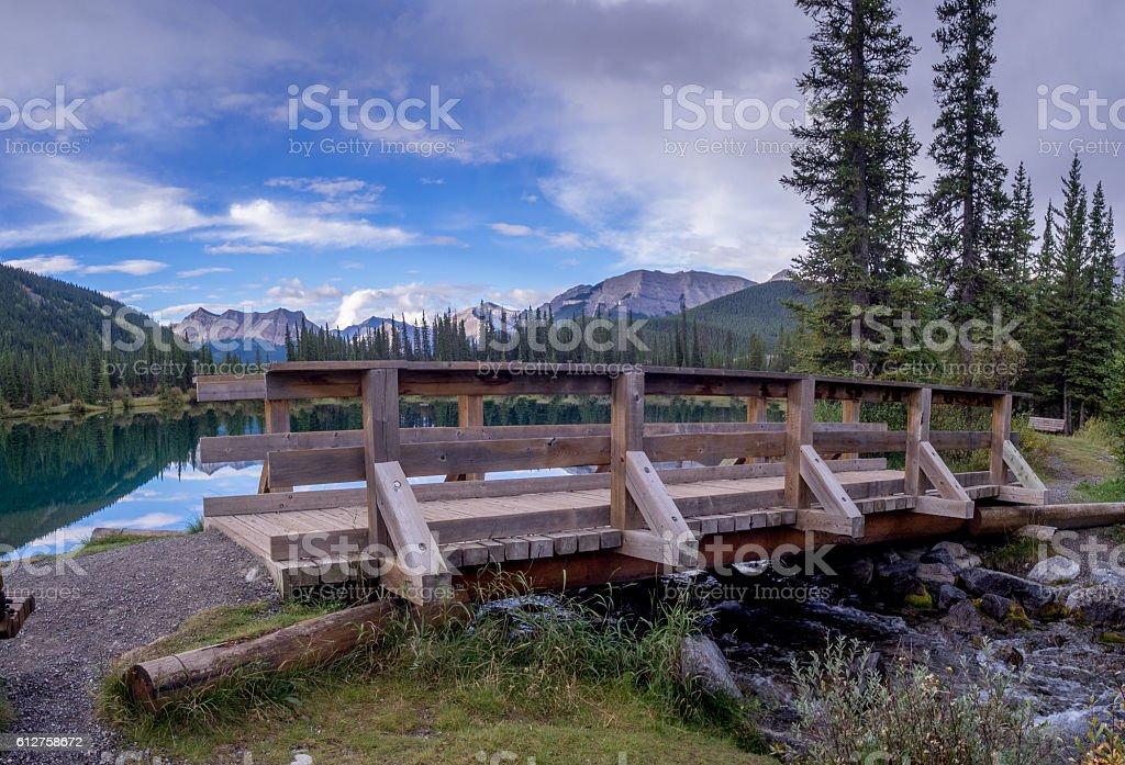 Forgetmenot Pond in Kananaskis stock photo