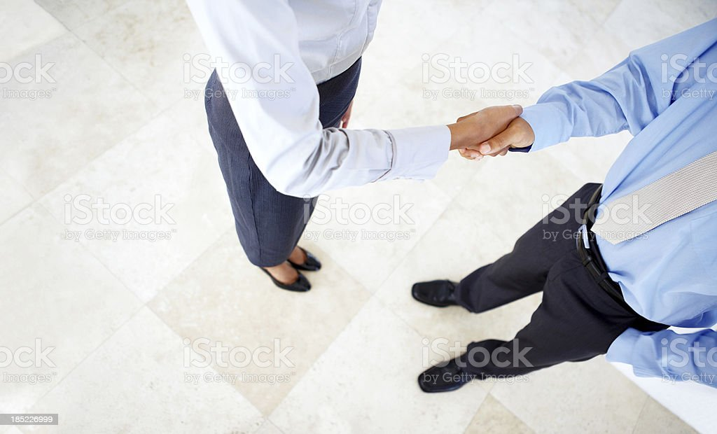 Forging business partnerships royalty-free stock photo