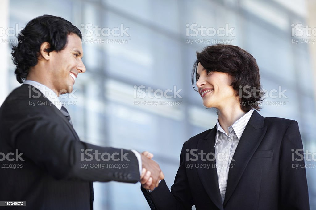 Forging business ties royalty-free stock photo