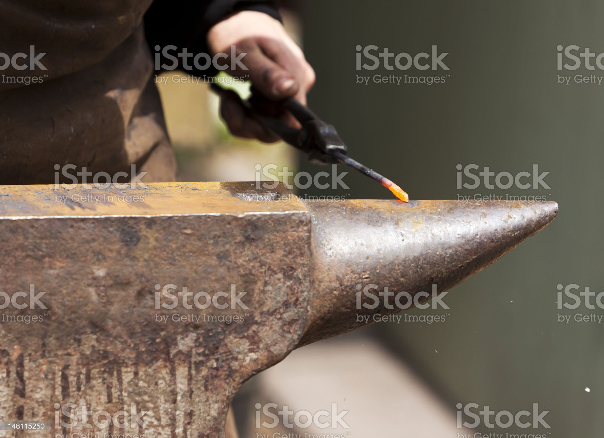 Forging royalty-free stock photo