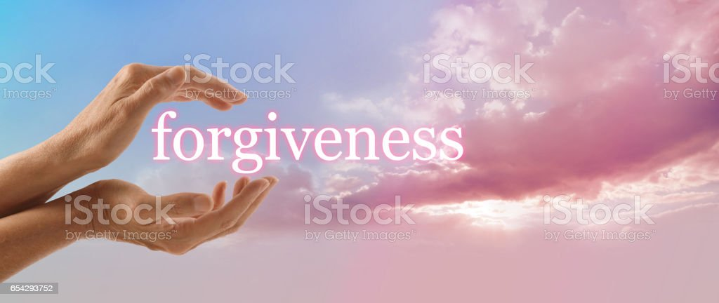 Forgive and release to your Higher Power stock photo