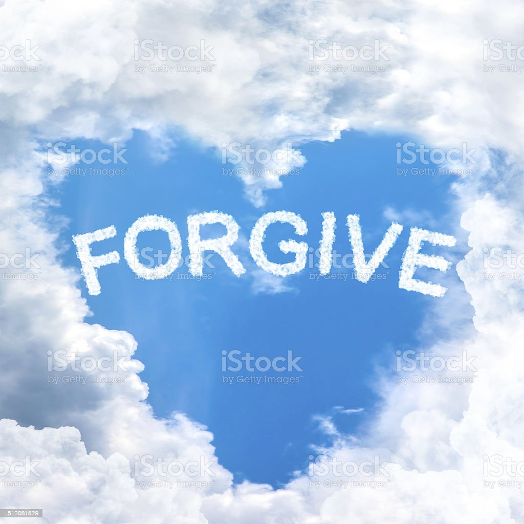 forgive concept tell by shy cloud nature stock photo