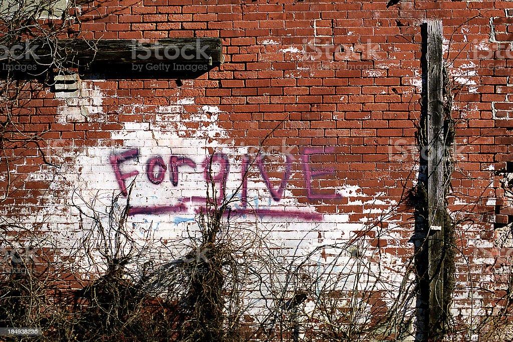 Forgive Graffiti royalty-free stock photo