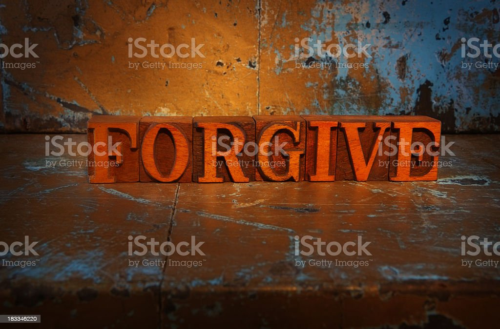 Forgive -Lit up word royalty-free stock photo