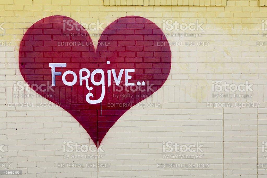 Forgive royalty-free stock photo