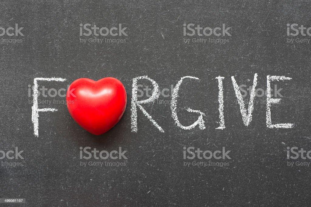 forgive stock photo