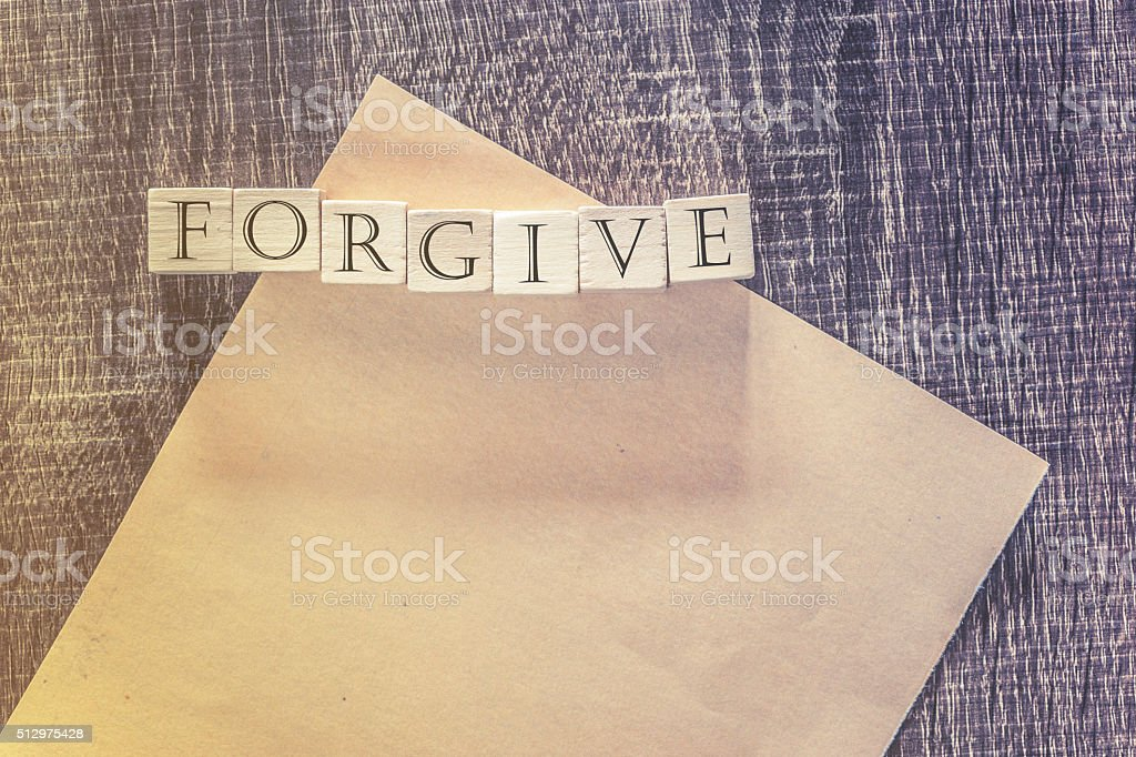 Forgiveness concept stock photo