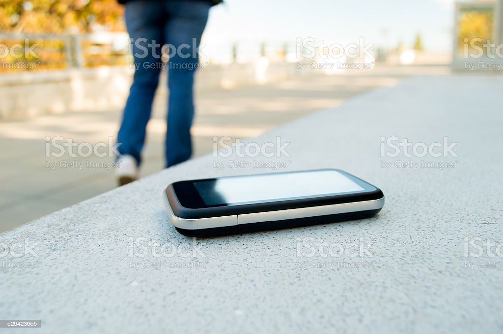 forgot cell phone stock photo