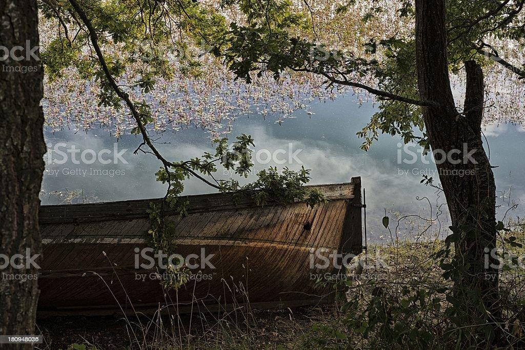 Forgotten Boat royalty-free stock photo
