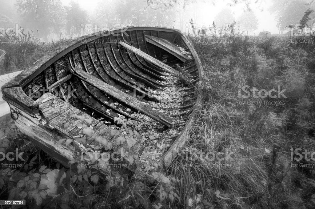Forgotten boat stock photo