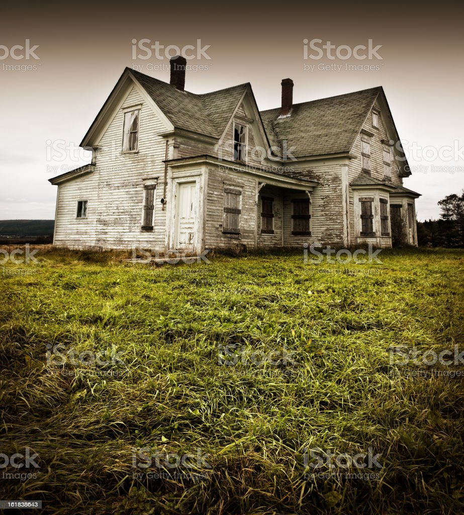 Forgotten Home stock photo