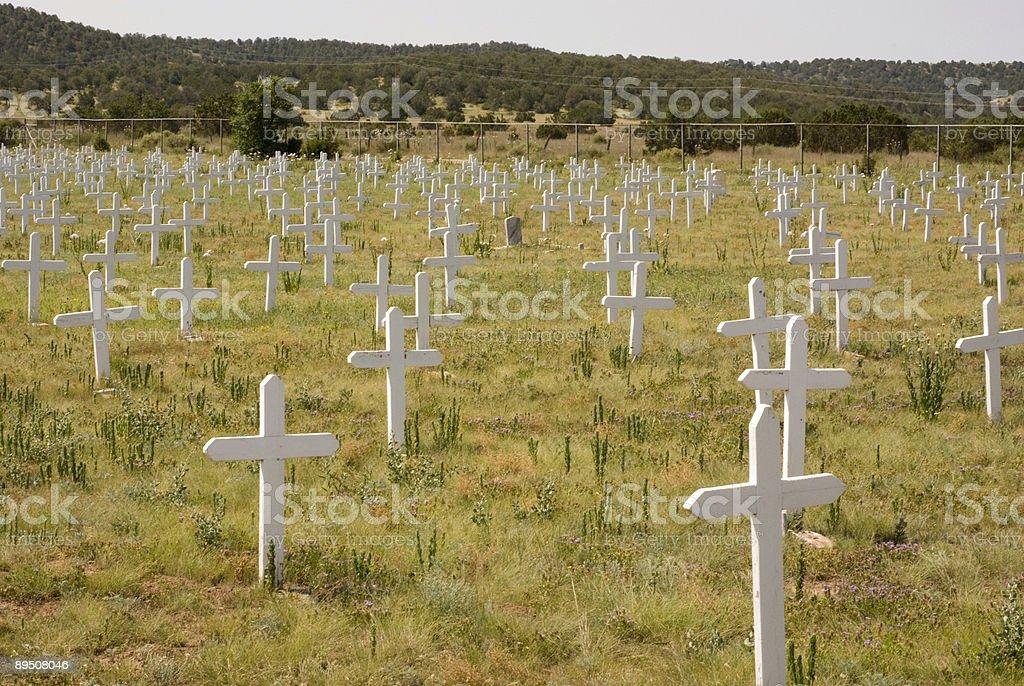 Forgotten Military Cemetery stock photo