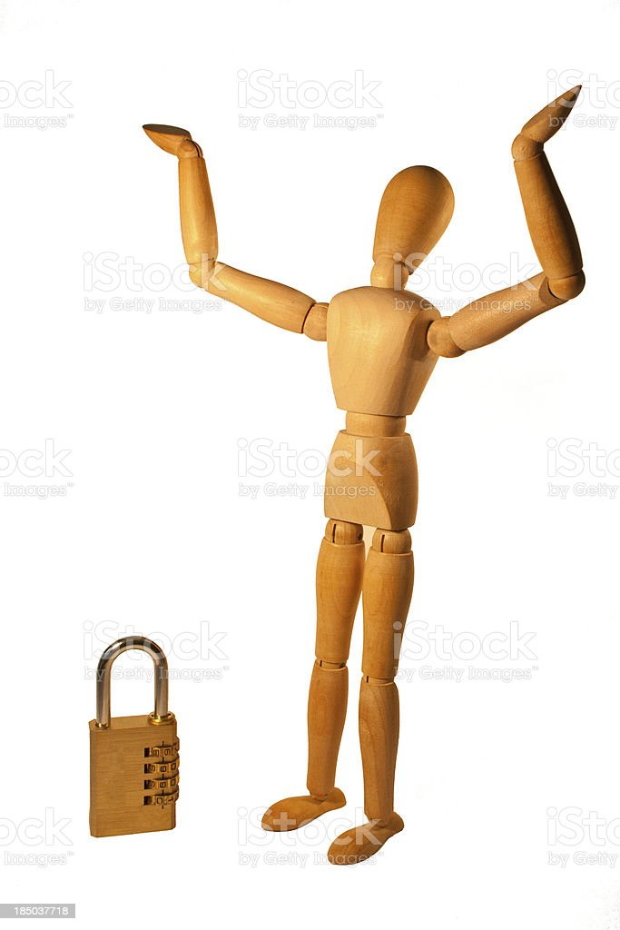 Forgotten Padlock Number royalty-free stock photo