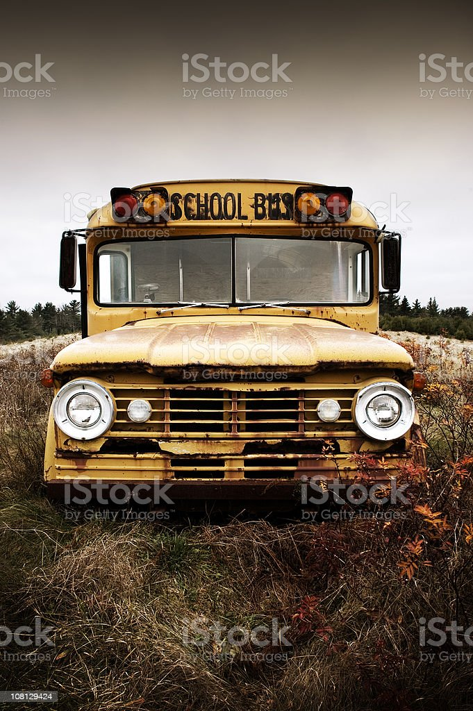 Forgotten Schoolbus royalty-free stock photo
