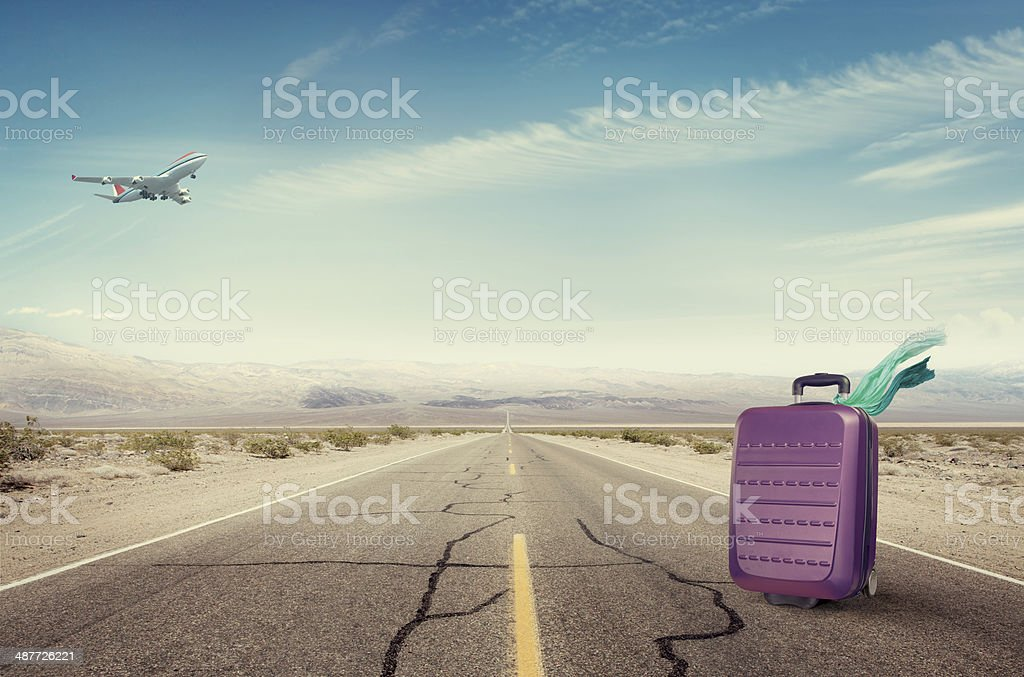 Forgotten Suitcase stock photo