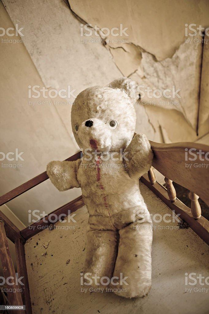 Forgotten Teddy stock photo