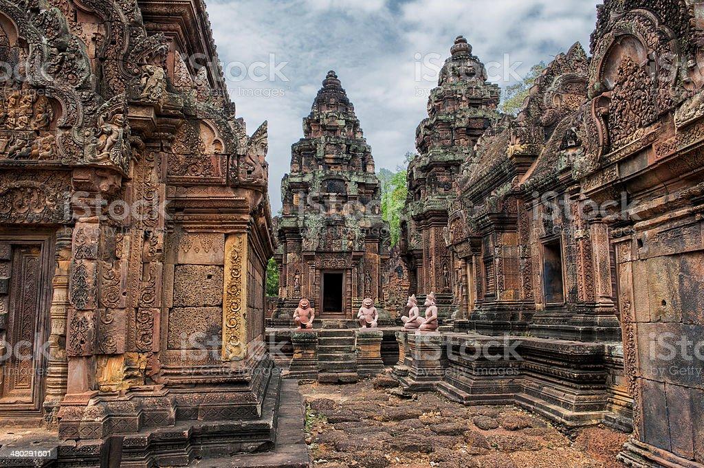 Forgotten temple stock photo