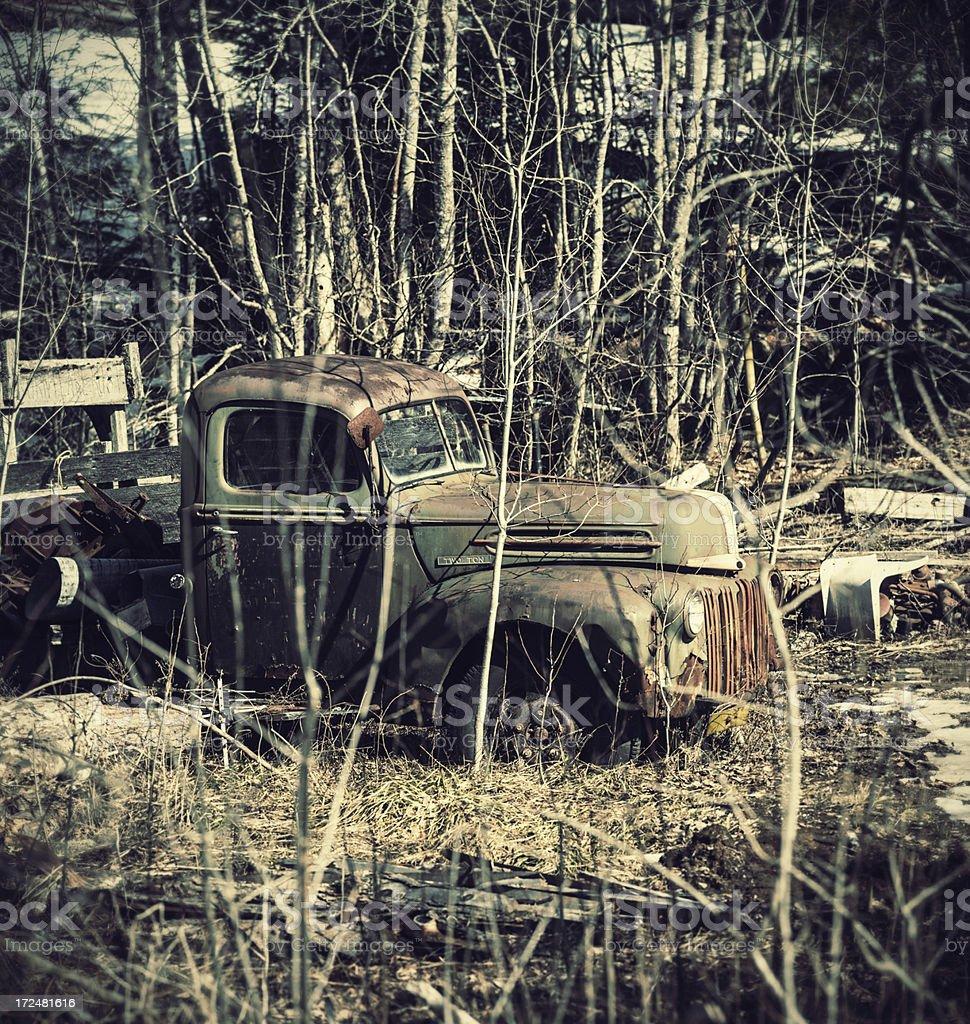 Forgotten Tow Truck royalty-free stock photo