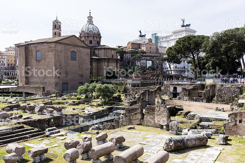 Fori Imperiali, Rome royalty-free stock photo
