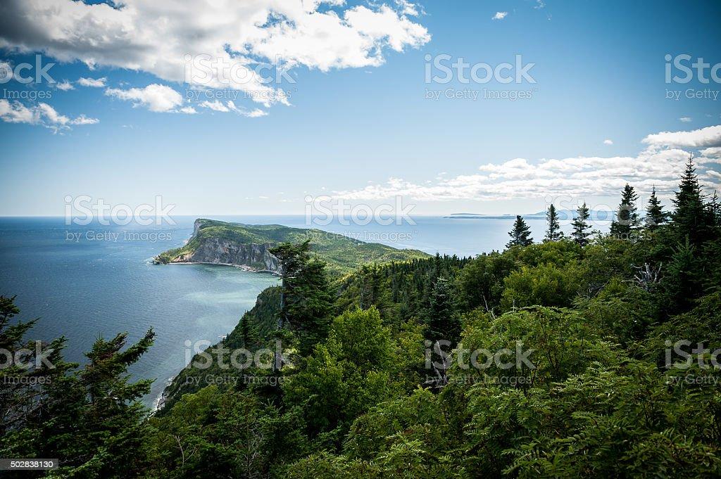Forillon National Park scenic view stock photo