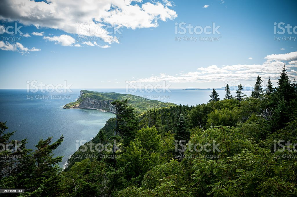 Forillon National Park scenic view stock photo