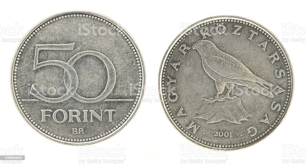 50 Forint - hungarian money royalty-free stock photo