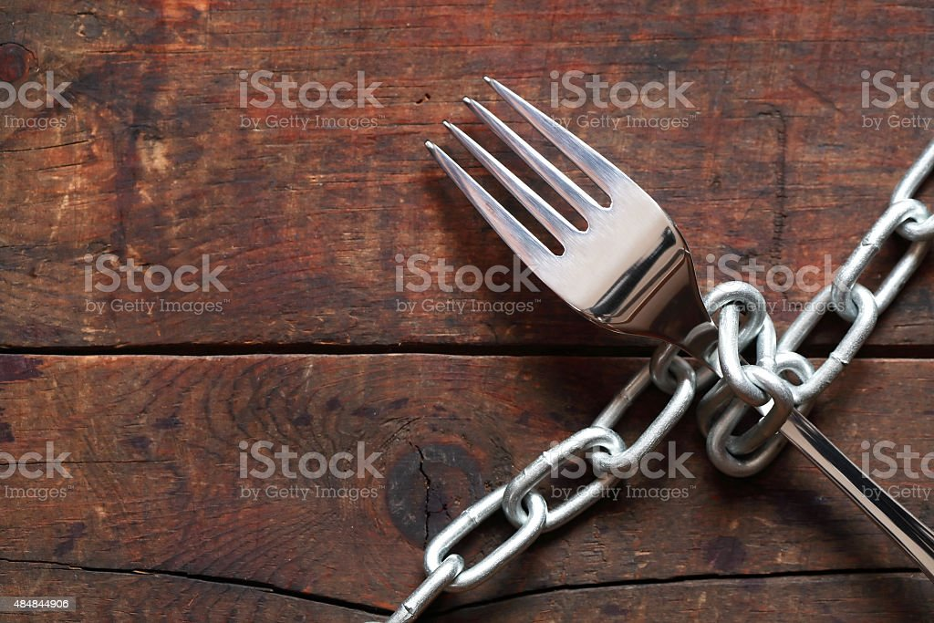 Fork And Chain stock photo