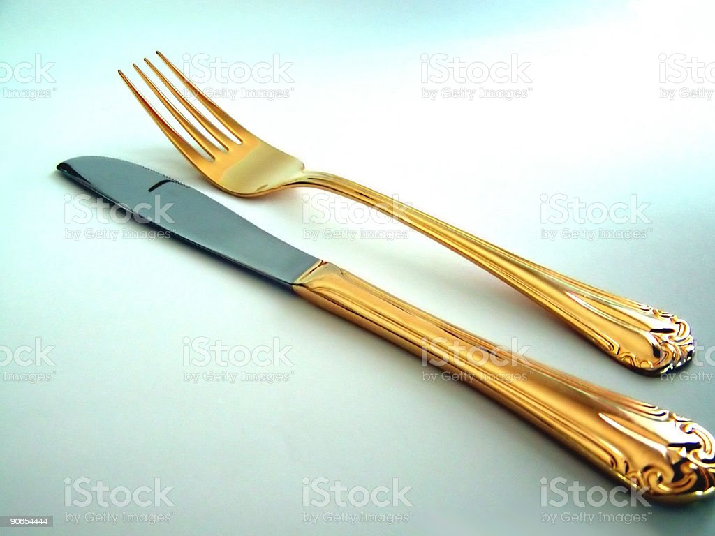 Fork and Knife 2 stock photo
