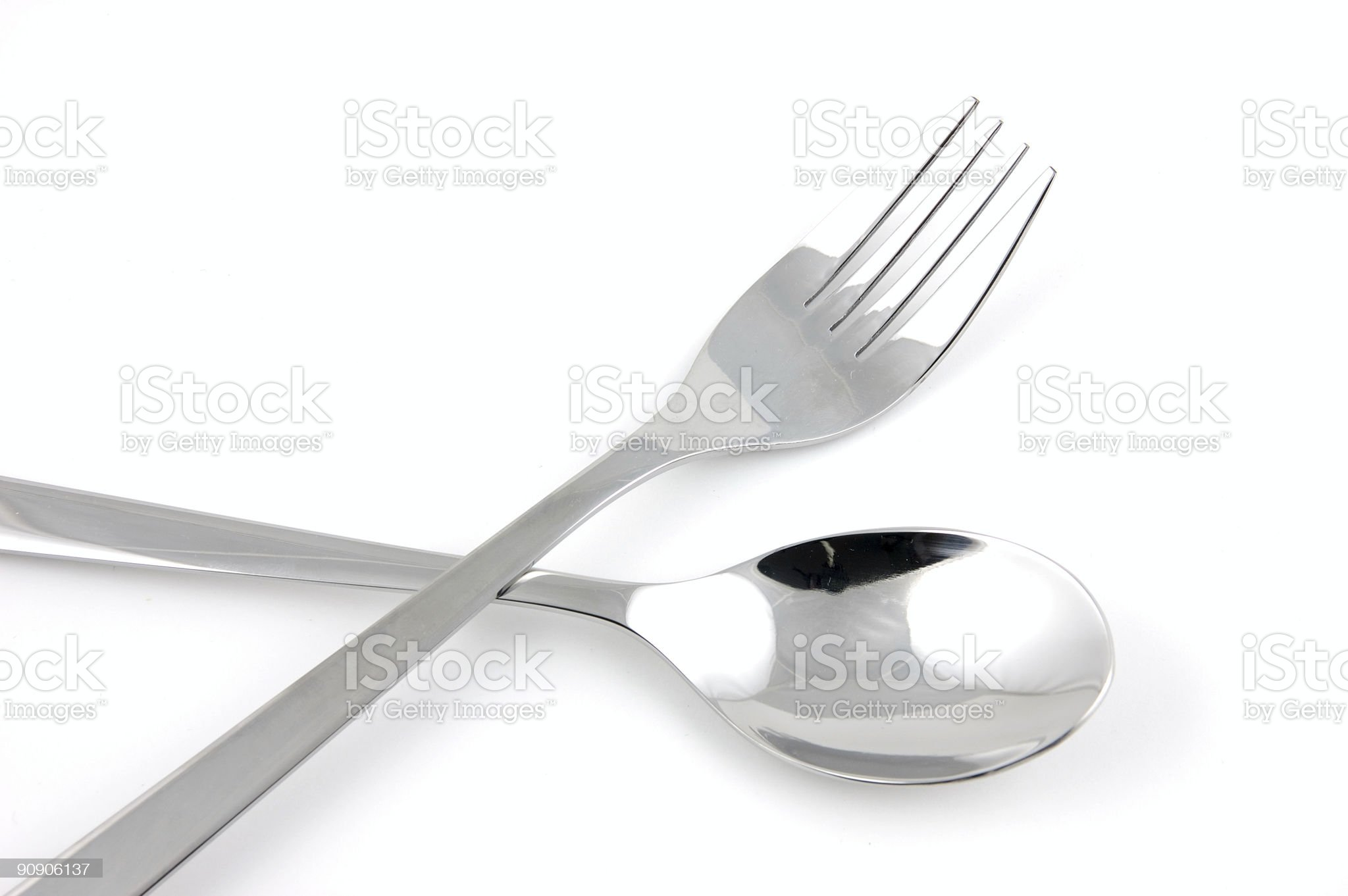 Fork and spoon royalty-free stock photo