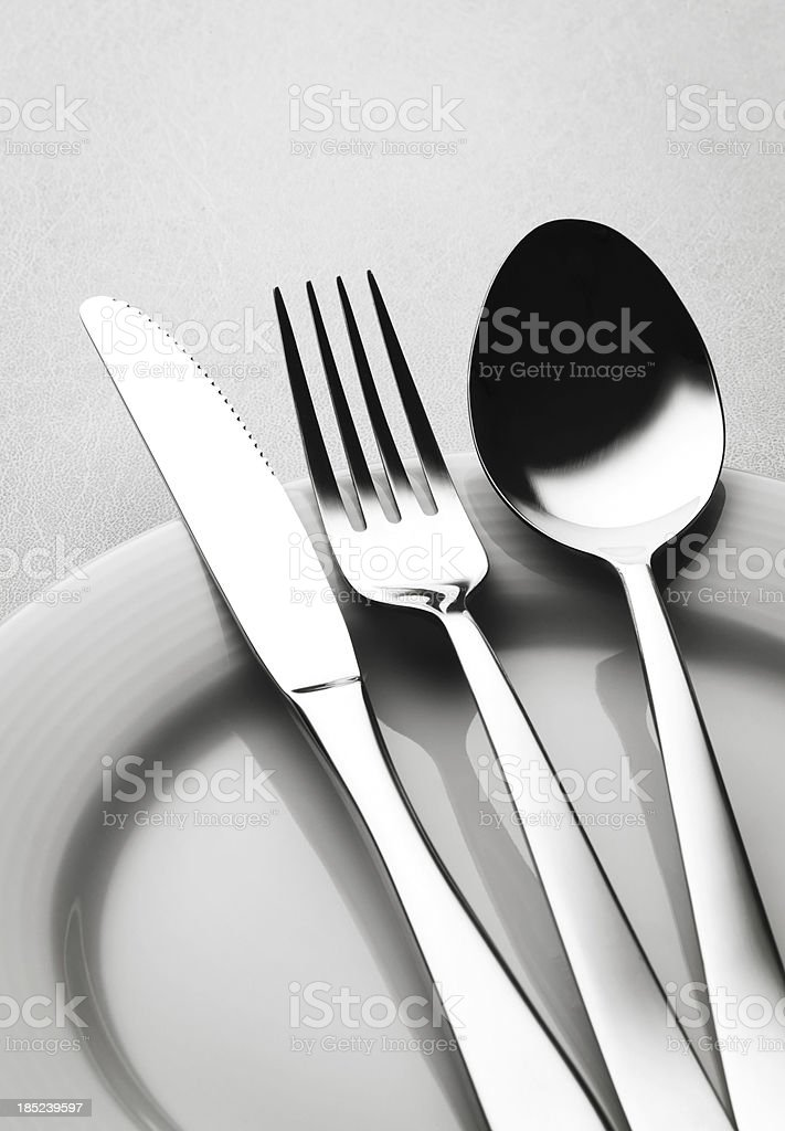 Fork knife and spoon set royalty-free stock photo