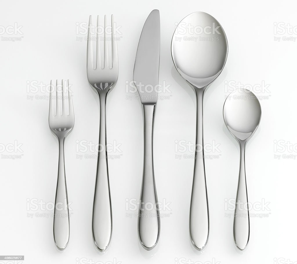 Fork, knife and spoon set royalty-free stock photo