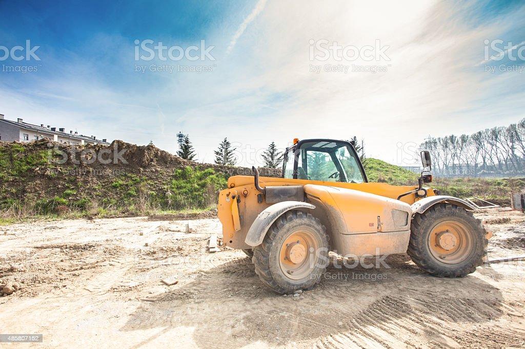 Fork lift stock photo