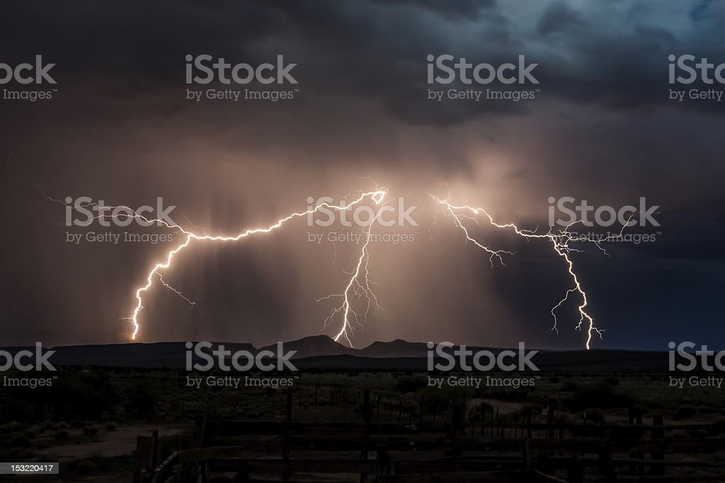 Fork of Lightning royalty-free stock photo