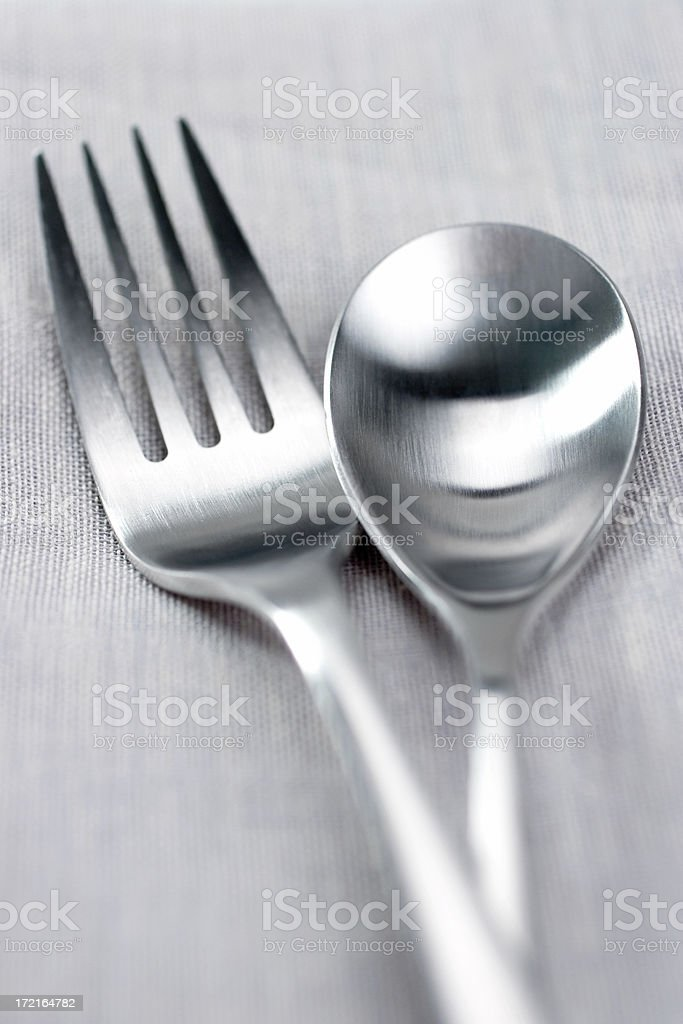 Fork & Spoon royalty-free stock photo