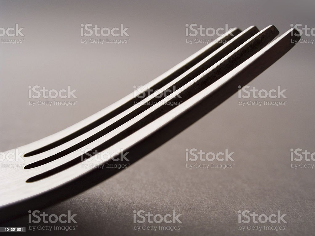 Fork_side view royalty-free stock photo